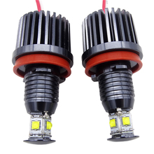 2x H8 Error Free 40W 2400lm XPE Chips LED Angel Eye Marker Lights Bulbs For BMW E60 E61 E70 E71 E90 E92 E93 X5 X6 Z4 M3 цены