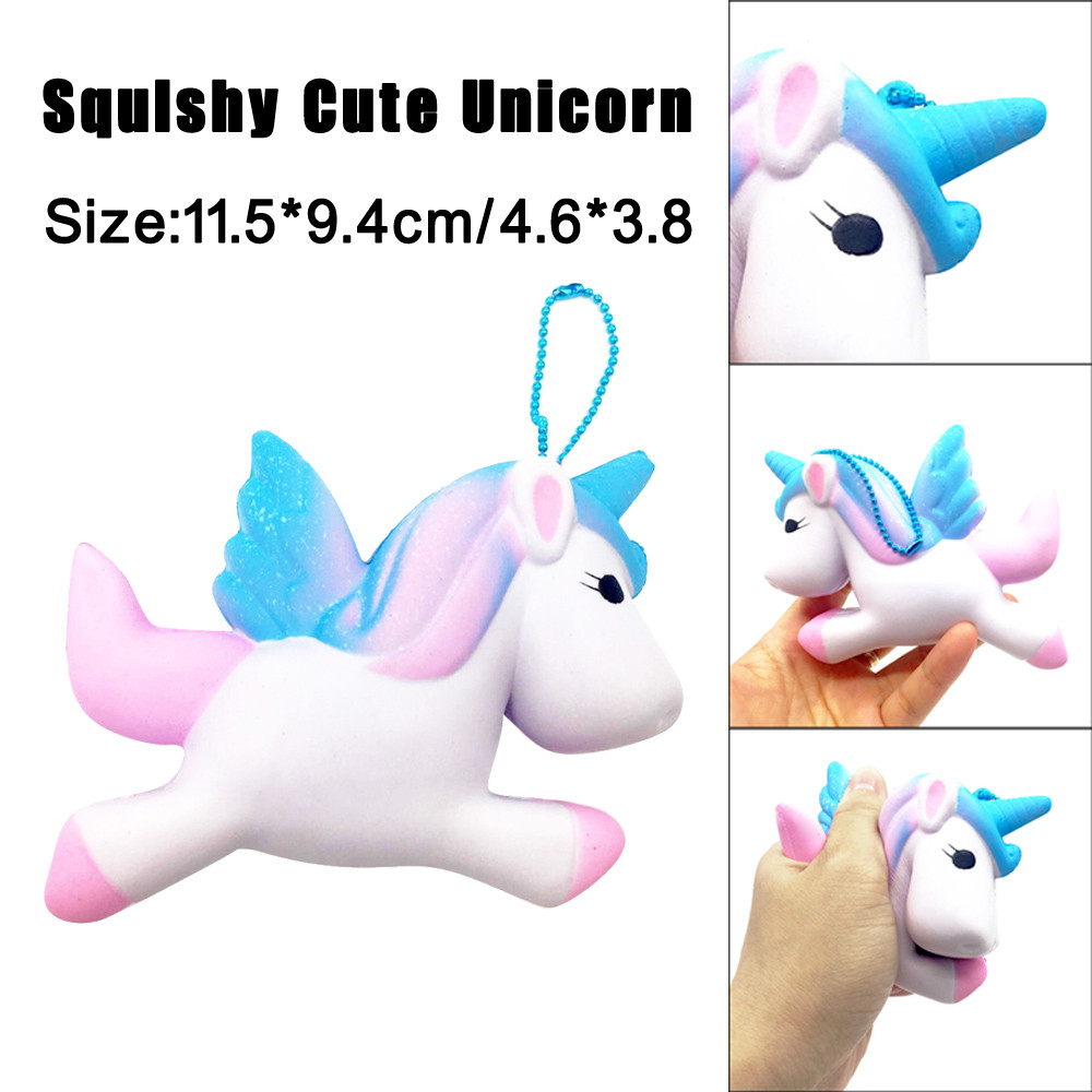 Exquisite Fun Cute Unicorn Scented Squishy Charm Slow Rising 11cm Simulation Toy Toy for children Cure Gifts Kids toys@15