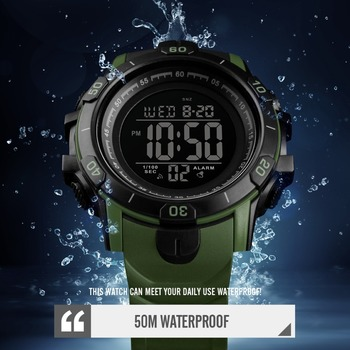 2019 New SKMEI Mens Sports Watches Fashion Outdoor Waterproof Digital Watch Men Military Wristwatches Hot Relogio Masculino 3