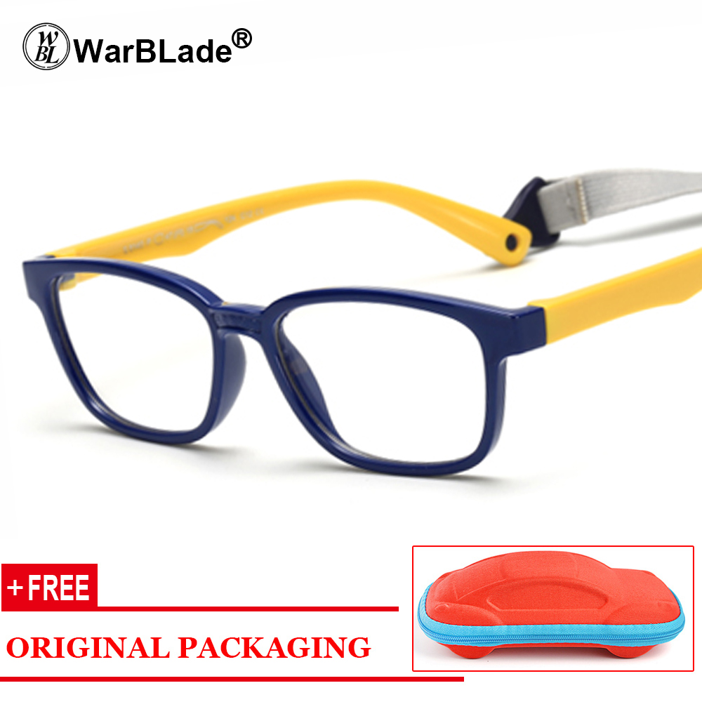 Healthy Silicone Children Clear Glasses Girls Boys Flexible Eyewear Frames Kids Glasses Frames Spectacle Frames Child Free Case