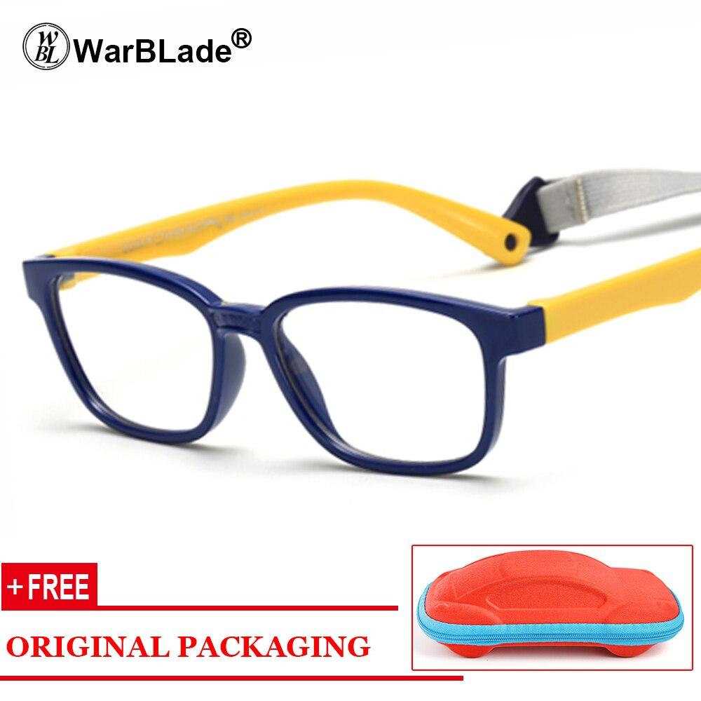 2ba634608 Saudável Silicone Crianças Óculos Claros Meninas Meninos Flexível Armações  de Óculos Crianças Óculos Quadros Armações de óculos Criança Caso Livre