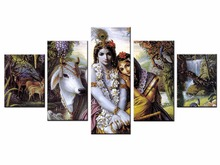 Buddha Canvas Painting Framed zen painting Wall Picture For Living Room 5Pcs Indian Series art/11Y-ZT