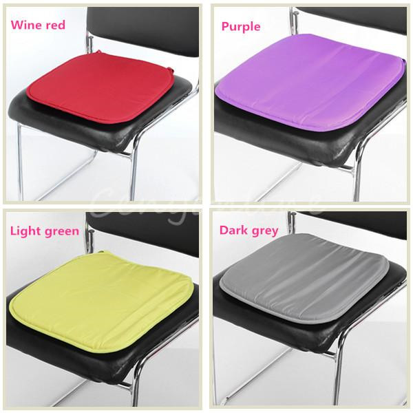 2017 New Soft Comfort Sit Seat Mat Lumbar Pillow Office Chair Car Cushion Bolster Ocks Tie On Pad 37x37x2cm 5color In From Home
