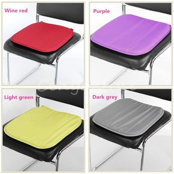 Seat Cushions For Office Chairs Elasticated Dining Room Chair Covers 2017 New Soft Comfort Sit Mat Lumbar Pillow Car Cushion Bolster Buttocks Tie On Pad 37x37x2cm 5color