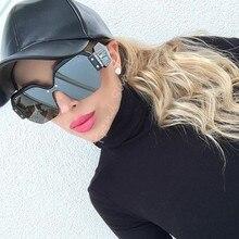 Luxury Sunglasses Brand Designer Ladies Oversized One Pieces Mirror Sunglasses Women Rimless Sun Glasses Female Oculos De Sol