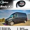 Deflector pára Lábio Lábios Para Volkswagen VW Crafter Volt LT3 Frente Spoiler Saia Para Os Amigos para a Afinação/Body Kit/Strip