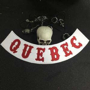 Байкерский патч для Квебека, Байкерский значок в стиле панк, Байкерский значок, аксессуар для одежды
