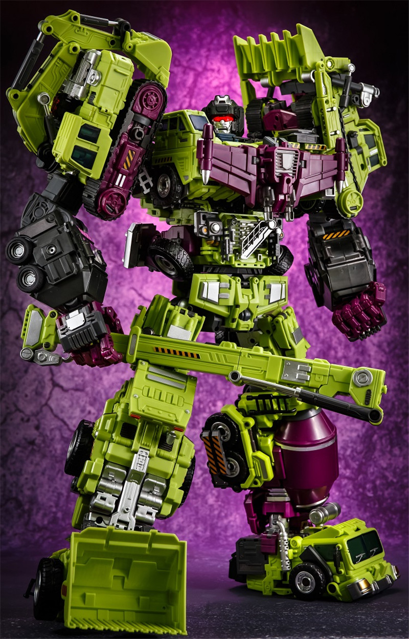 JINBAO 21CM Big Size Devastator Transformation Toys Cool KO Action Figure Anime Brinquedos G1 Robot Car Model Boy Kids Toy Gifts-in Action & Toy Figures from Toys & Hobbies    1