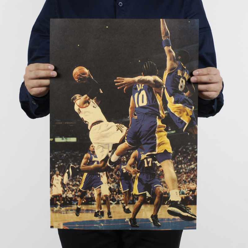Free shipping,Iverson B The Answer/Basketball star/kraft paper / Cafe / bar poster/ Retro Poster/decorative painting 51x35.5cm