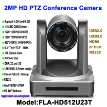 2MP 12x Zoom HD high definition 1080P USB HDMI PTZ IP Video conferencing Camera for Conference Rooms aibecy 1080p hd conference camera usb plug play 350d rotation remote control power adapter for video meetings training teaching
