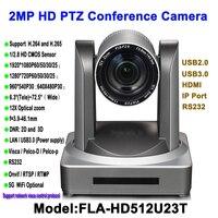 2MP 12x Zoom de alta definição HD 1080 P USB HDMI PTZ IP Câmera De Vídeo conferência para Salas de Conferência