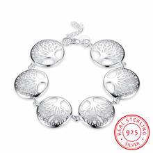 Новый женский браслет серебряные ювелирные изделия