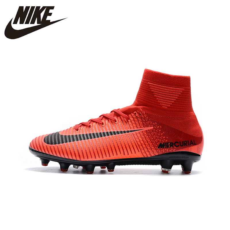 super popular d0727 1508b NIKE MERCURIAL SUPERFLY V AG Professional Soccer Shoes Outdoor Lawn Mens  Football Boots 831955-870 39-45