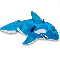 High quality children's swimming ring animal model of floating ring ring transparent blue whale cartoon mounts xx012