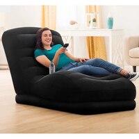 170cm*86cm*94cm Single Flocking back lazy sofa folding loungers outdoor portable big relaxing air bean bag inflatable sofa