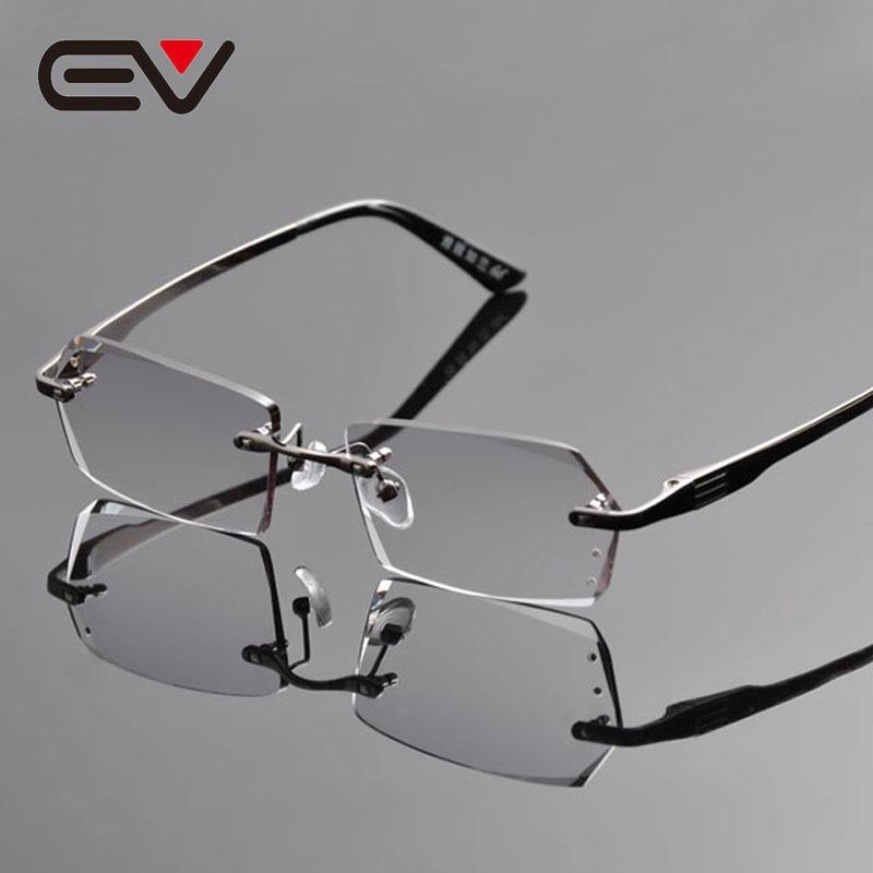 2016 New Arrived Elegant Men Titanium Rimless Eyeglasses Frame ...