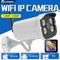 720 P 1080 P Wi-Fi 2-МЕГАПИКСЕЛЬНАЯ Беспроводная Ip-камера Открытый Водонепроницаемый Ночного Видения 1.0MP Видеонаблюдения 3.6 мм Объектив Камеры Безопасности Onvif