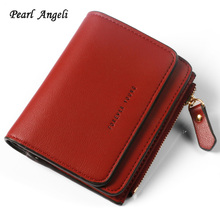 Pearl Angeli Fashion Mini Style Damesportefeuilles Dame Letter Sluiting Portemonnee Portemonnees & Portefeuilles Zipper Solid Short Clutch Wallet