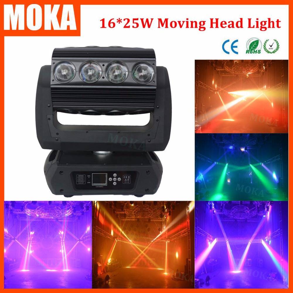 16*25W LED moving head light spider zoom spot stage light RGBW 4 IN 1 unlimited rotation DMX control for bar,club ,event project 9 moving head laser spider light green color 50mw 9 triangle spider moving head light laser dj light disco club event