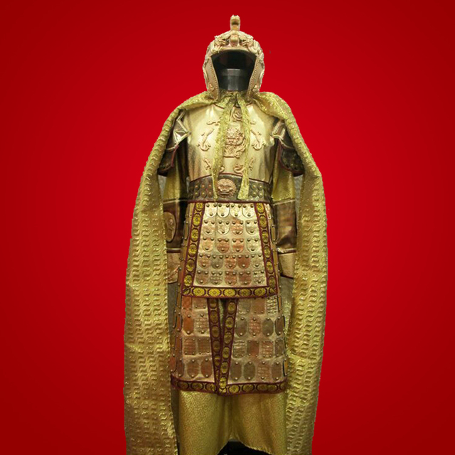 Ancient Chinese generals armor costume uniform China TV Movie drama battle armour Medieval Battlefields Emperor Fighting Outfit