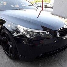 Блестящая Черная Виниловая пленка с воздушными пузырьками блестящая черная, глянцевая, виниловая пленка для автомобиля пианино черная пленка Размер 1,52x30 м/рулон