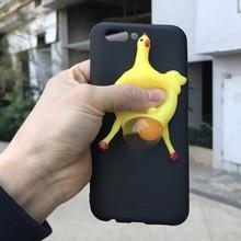 6877f664f31 3D blando de pollo cubierta del teléfono para Apple iPhone 8X8 7 6 S 6 Plus  5 5S 5C SE caso fundas de TPU suaves con diseño anti.