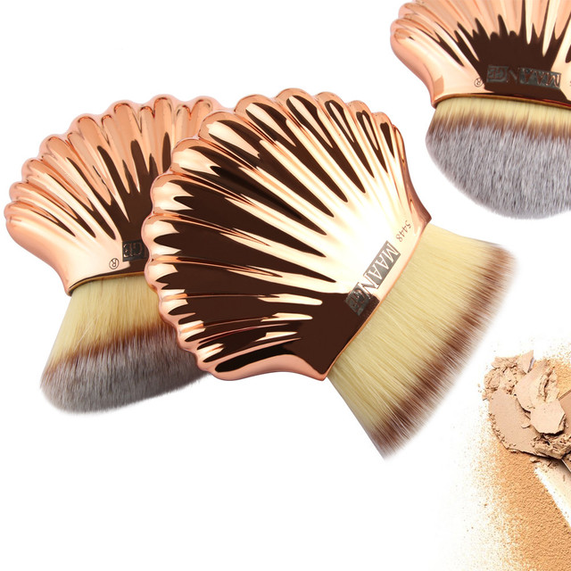 NEW High Quality 3PC Rose Gold Brushes Beautiful Shell Type Foundation Professional Brush Beauty Cosmetic Pincel Maquiagem Health & Beauty