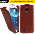 IMUCA Brand Leather Case for Samsung Galaxy S4 s 4 mini i9190 Vertical Flip Cover For Samsung Galaxy S4 Phone case