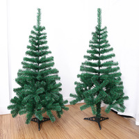 Artificial Decorated Christmas Tree Green Xmas Plastic Tree 120cm New Year Home Ornaments Desktop Decorations Christmas Tree