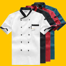 New Chef's Breathable Outfit Summer Wear Work Clothes Men and Women Overalls Coats Hotel Chef Black Jacket Uniform
