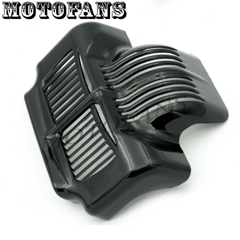 Black/ Chrome Stock Oil Cooler Cover Guard for Harley Touring Street Electra Road Glides 2011-2015 Trikes 11-13 Freewheeler 2015