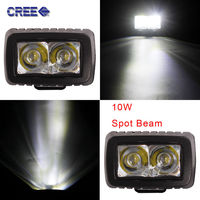 TOMALL 2pcs 3 Inch LED Work Light 10W Motorcycle Headlight XBD MOTO Driving Lamps Waterproof Off