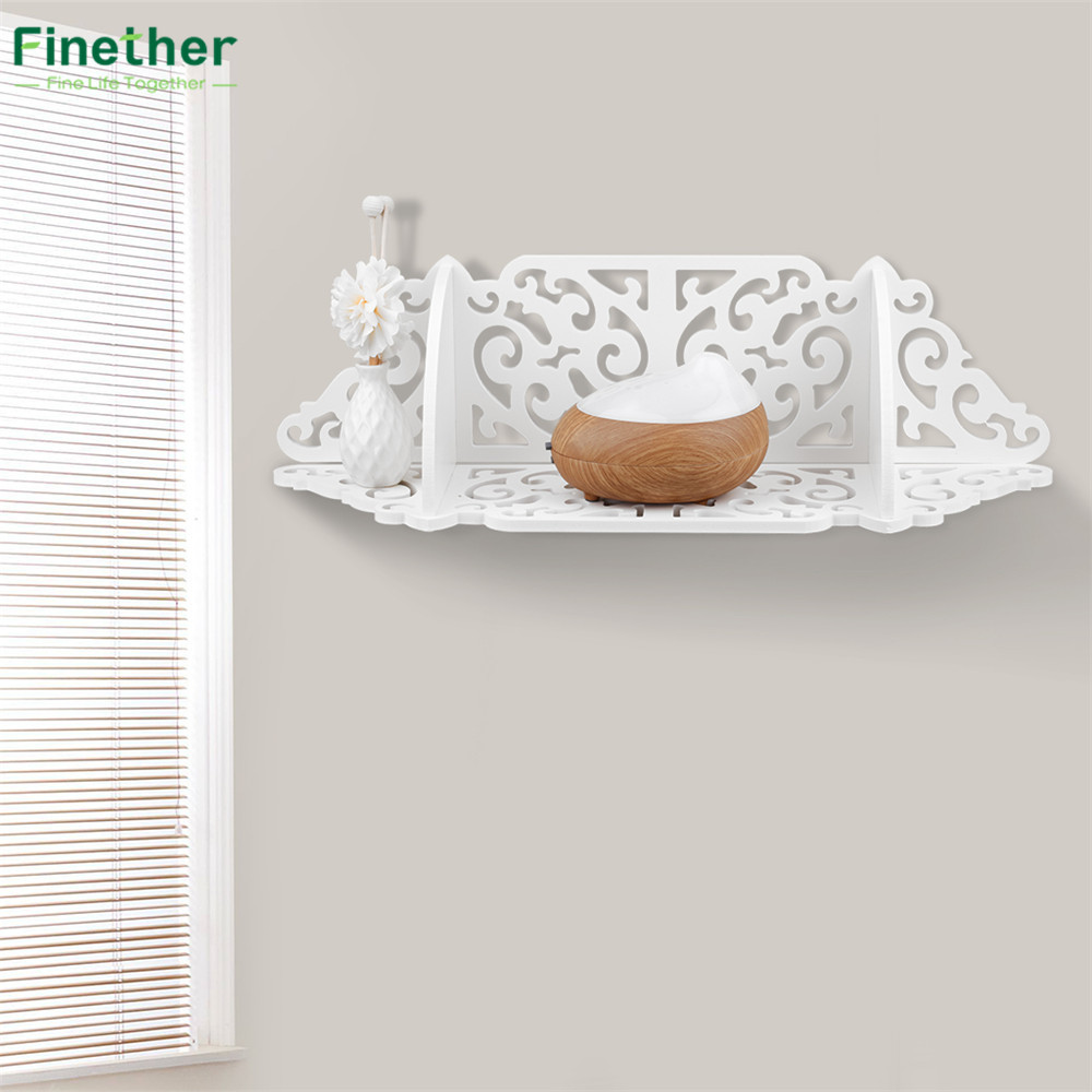 finether montado en la pared estante de la esquina de madera compuesto plstico repisa flotante estante