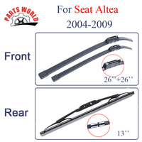Group Silicone Rubber Front And Rear Wiper Blades For Seat Altea 2004 2009 Windscreen Wipers Car
