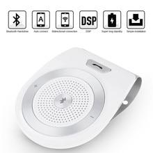 Kit mãos livres Bluetooth Car Kit Para iPhone Speakerphone Multiponto Cancelamento de Ruído Sem Fio Clip Na Pala de Sol Do Carro Portátil de Áudio