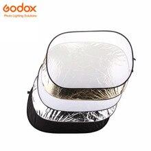 5-em-1 Godox 80×120 cm retângulo Dobrável Luz do Refletor Difusor Discos com Translúcido Prata Ouro Branco Preto
