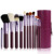 12 UNIDS Ppincel Maquiagem Pinceles de Maquillaje Profesional de Maquillaje Cepillo Conjunto De Belleza Cosméticos Fundación Rubor y Contorno Con Soporte