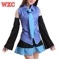 Vestidos de Uniforme Para O Dia Das Bruxas Cosplay Costumes Anime Vocaloid Hatsune Miku Japão Anime Roupas Saias e Tops WXC