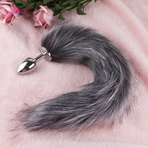 Anal Plug With Silicone Fox Tail Smooth Anal Plug for Woman Men Couples Erotic Toys Butt Plug Adult SM Sex Toy Adult Products