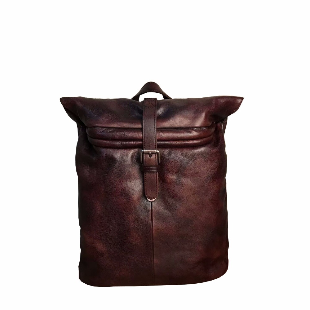 Genuine Leather New Fashion Wome's Luxury Female Bag High Quality Cowhide Soft Laptop Messenger Travel Backpack School Bag new brand esloth for ipad waterproof genuine leather bag high quality fashion multi use design 32cm 11cm 19cm female bag nb05