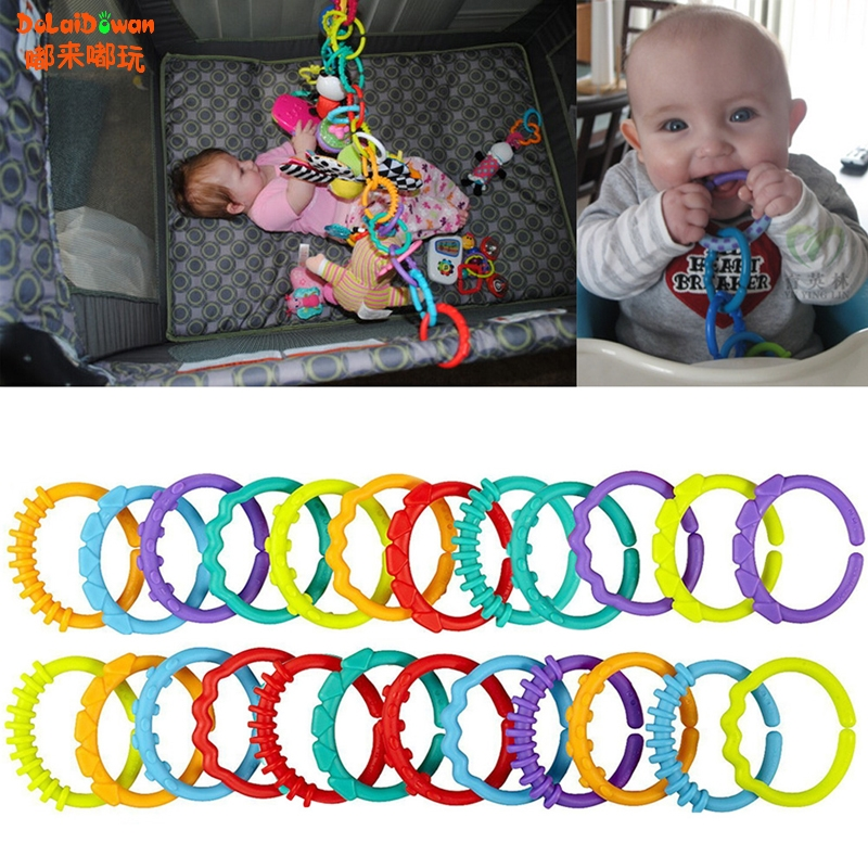 Infants Baby Chewable Toothbrush Teether Teether Teething Ring Mouth Toy 24 Pcs