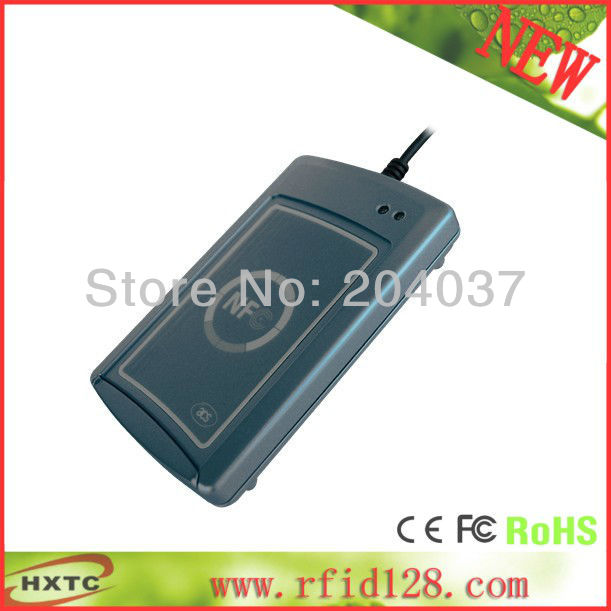 ФОТО Cheap HF/13.56MHZ  ISO14443 RFID RS232 NFC Smart Card  Reader Writer lector ACS ACR122S with SDK Software CD  Free Shipping