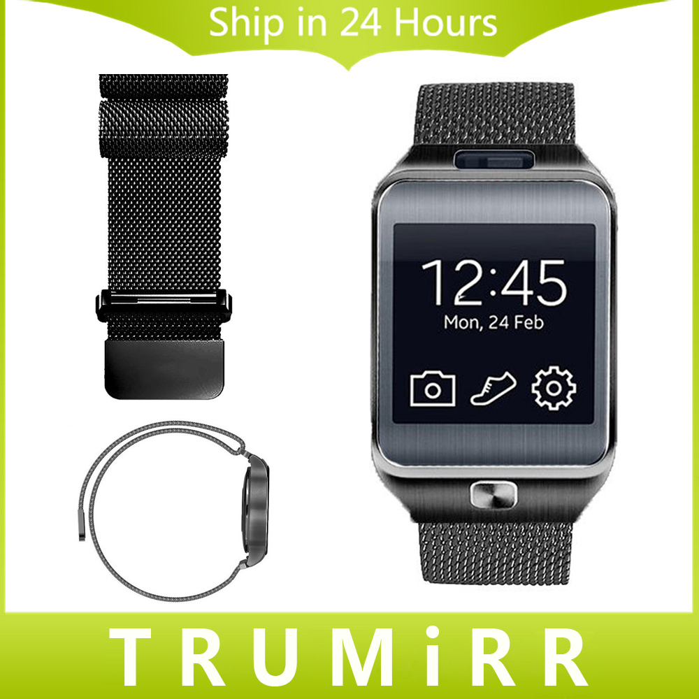 22mm Milanese Strap Stainless Steel Watch Band Bracelet for Samsung Gear 2 R381 R382 R380 S3
