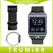 22mm Milanese Correa de Acero Inoxidable Reloj de Pulsera de Banda para Samsung R380 Gear 2 R381 R382 S3 Clásica Correa de Frontera cinturón