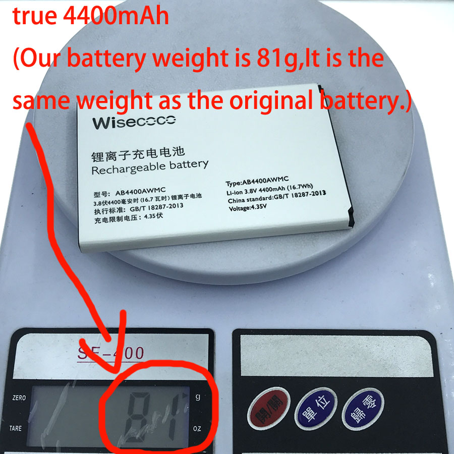 NEW true 4400mAh (Our battery weight is 81g instead of 65g) AB4400AWMC Battery For PHILIPS V387 Cell Phone +Tracking Number