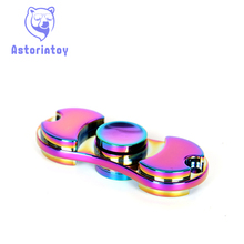 EDC handspinner Toy Triangular Hand Spinner Electroplating color aluminum Material Professional Finger gyro For Autism Rotation