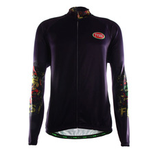 TVSSS Hot Sale Purple Long Sleeve Cycling Jerseys TVSSS Brand Men's Breathable Polyester Lycra Jerseys Bicycle Clothing
