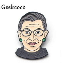 Ruth Bader Ginsburg RBG Enamel Pins for clothes metal Gift para bag shirt hat backpack insignia Brooches Badges men J0135