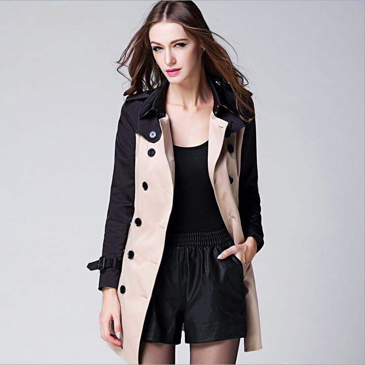 Major Suit Meters Bonwe Medium Style Coat High-end Women Clothing Leather Buckle Double Breasted Womens Trench Coat Trench Coats new for b104 01 007 touch screen glass