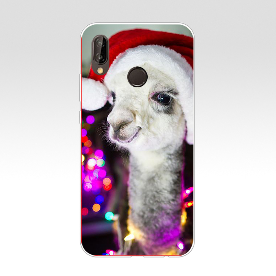 5 Alpacas Alpaca Christmas For Huawei P20 Lite Case Cover Soft Silicone TPU Cover Back Protective Phone For Huawei P20 Lite Case